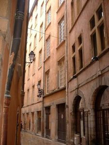 Rue de Gadagne in the heart of the Vieux Lyon